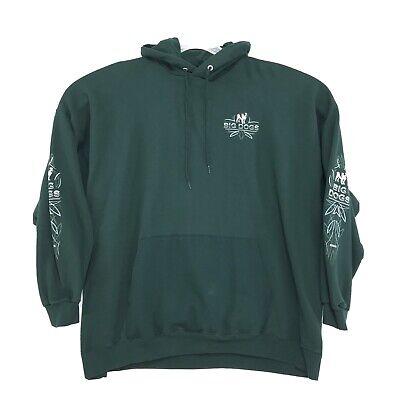 Big Dogs Hoodie Sweatshirt Mens 3XL 54 56 Dark Green Back Graphic Kangaroo Pkt Green Kangaroo Hoody Sweatshirt