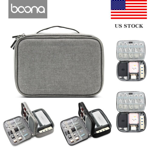 Baona Electronic Accessories Cable USB Drive Organizer Bag T