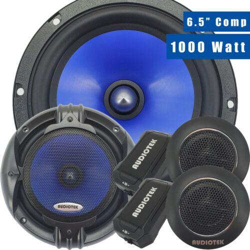 Pair of Audiotek 1000W 6.5-Inch 2-Way Car Audio Component Speaker System 6-1/2in