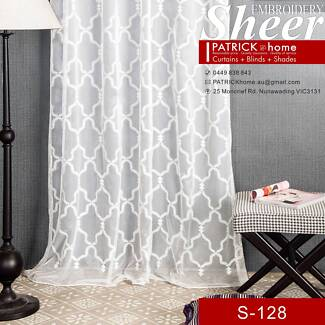 Dreamlike Embroidered Sheer Best sheer at Patrick Home(S-128)