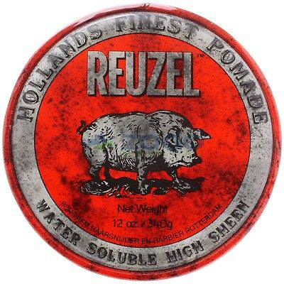 Reuzel Hair Pomade Red Water Soluble High Sheen 12 oz for sale  Brooklyn