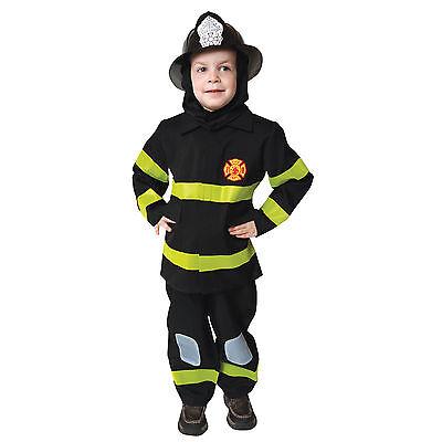 - Deluxe BLACK Fire Fighter Costume - Child