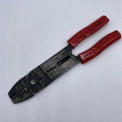 Gh Electrical Wire Stripper Crimping Pliers - Wire Cutter Crimper - Red Grip