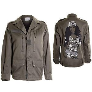 Kaki Style Militaire Fashion Arrière Photo Veste Manteau 36 42