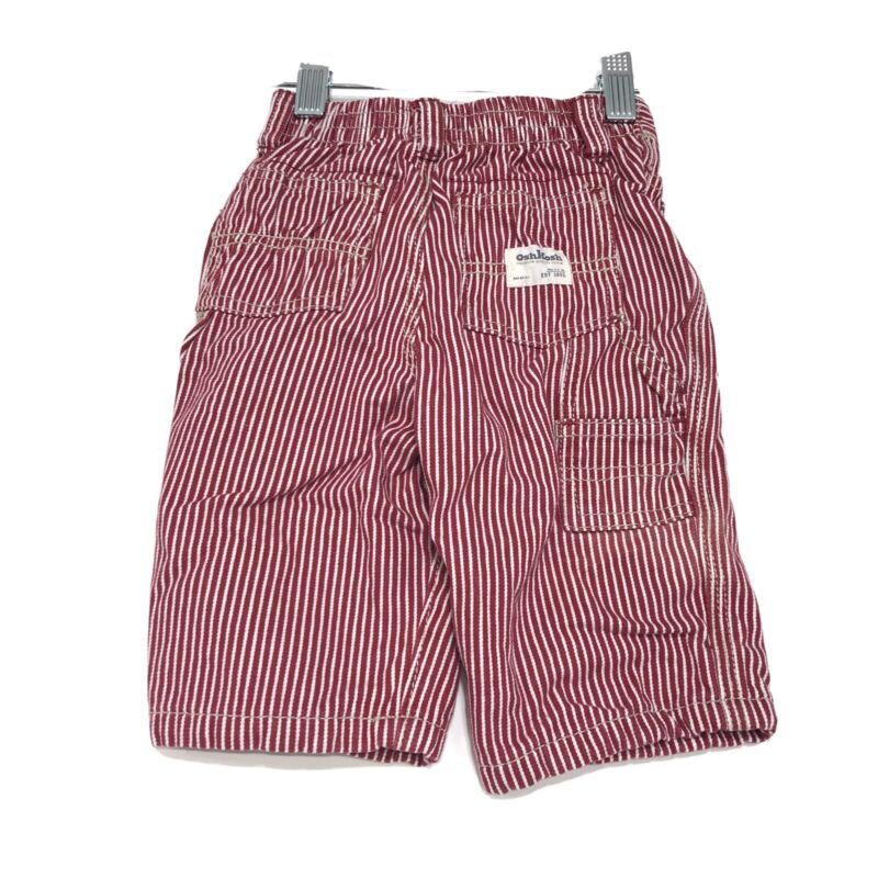 Osh Kosh Lined Red Conductor Carpenter Pant Jeans Infants 9 Mos Railroad Stripe