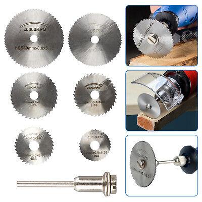 Circular Saw Disc Set Dremel Accessory Mini Drill Rotary Tool Wood Cutting...