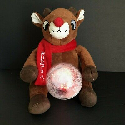 Dandee Rudolph The Red Nosed Reindeer Animated Musical Light Up Snow Globe Plush