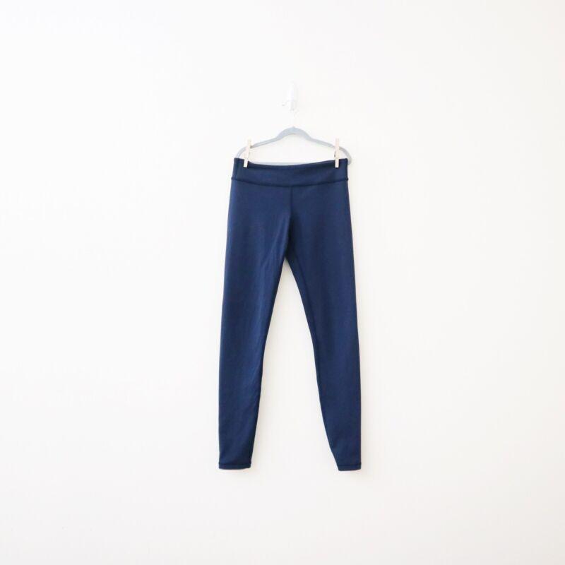 Ivivva Girls Size 14 Navy Blue Rhythmic Leggings Full Length Workout Pants