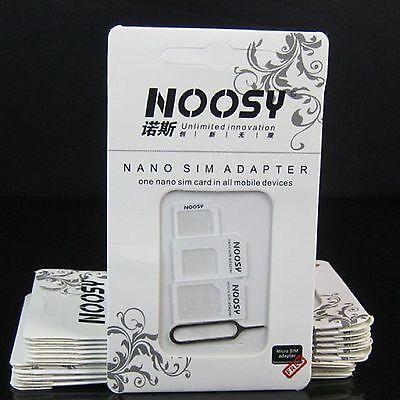 10 x Noosy adaptador 4en1 NANO MICRO SIM MICROSIM UNIVERSAL
