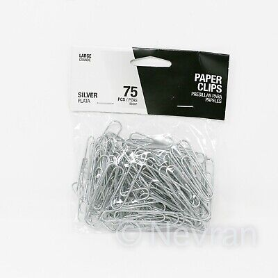 School Office Paper Clips 75 Pieces Document File Clip Organizing Large Size