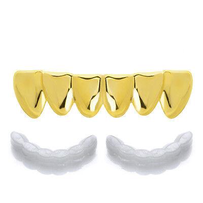 Hip Hop Plain Grillz Gold Plated Bottom Cap Teeth S636 G Molding 1 extra Bar