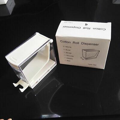 Dental Storage Box Cotton Roll Dispenser Holder Press Type Color White
