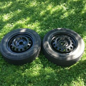 Tires on rims  185 65 14  four bolt
