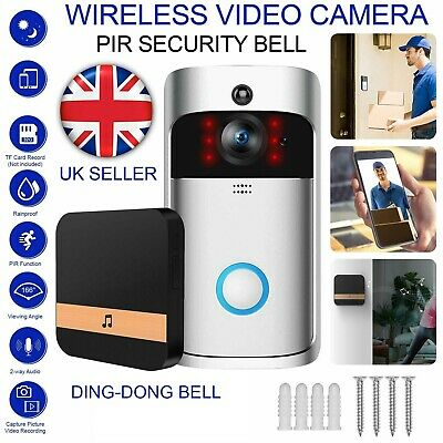 Wireless WiFi Video Doorbell Smart Phone Door Intercom Camera Bell Security