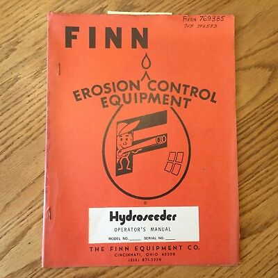 Finn Hydroseeder Bantam Super Titan Operators Manual Operation Maintenance