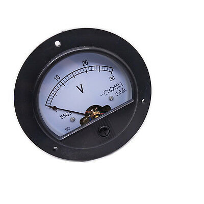 Us Stock Dc 0 30v Round Analog Volt Pointer Needle Panel Meter Voltmeter