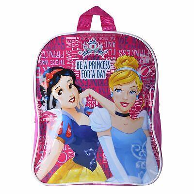 Disney Snow White Cinderella Princess Kids Backpack School Bag Pink Girls Travel ()