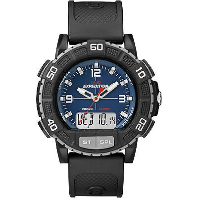 Timex Men's Expedition Double Shock | ISO Chronograph Black Case | Rugged T49968