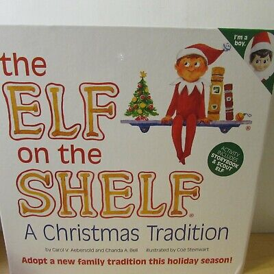 The Elf on the Shelf Christmas Boy Doll with Book - A Christmas Tradition