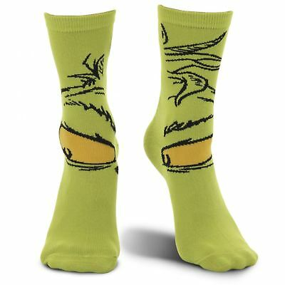 Dr. Seuss Official The Grinch Green Socks Costume Accessory Men/Women Adult Gift (Dr Seuss Accessories)