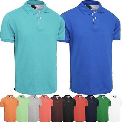 Plain Shirts Light (MENS Plain POLO SHIRTS Golf Shirts Sports Tee Tennis Premium Cotton Light)
