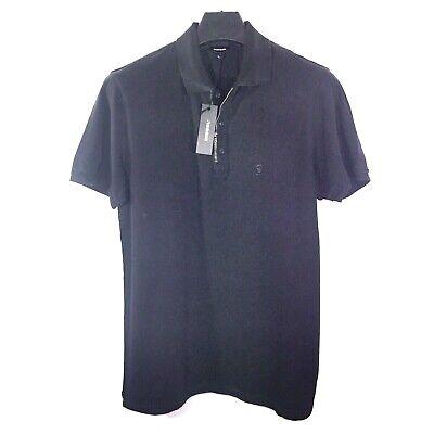 DIESEL Mens T Kalanit Zipper Button Short Sleeve Black Polo Shirt (MSRP $128)