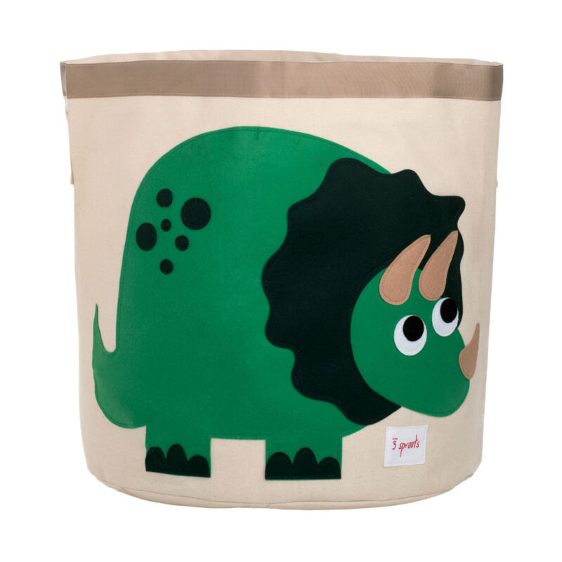 3 Sprouts Canvas Storage Bin - Laundry and Toy Basket for Baby and Kids,