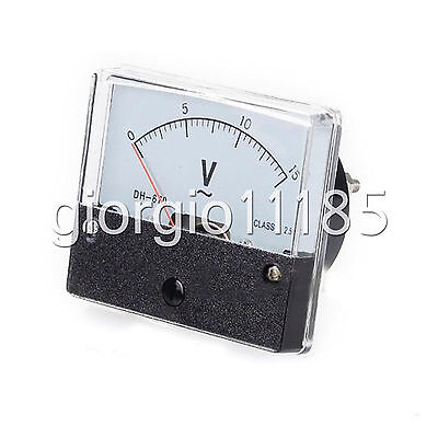 Us Stock Analog Panel Volt Voltage Meter Voltmeter Gauge Dh-670 0-15v Ac