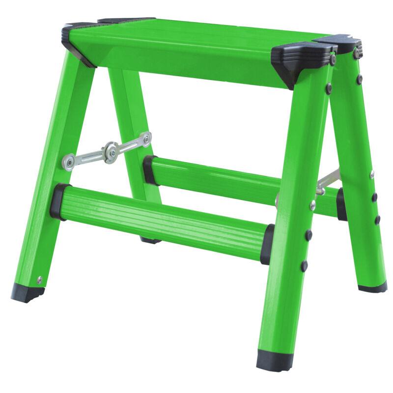 AmeriHome STL1AGNBX Lightweight Single Step Aluminum Step Stool - Bright Green