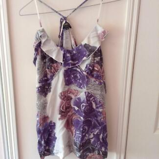 Little Joe Woman Floral Print Camisole - Crossover Back