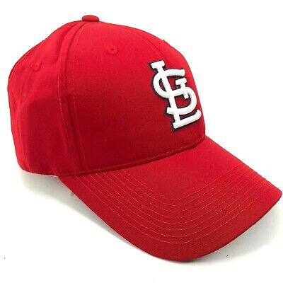 St. Louis Cardinals Outdoor Cap Adjustable Hat Curved Brim Red Solid White Logo Brim Logo Adjustable Hat