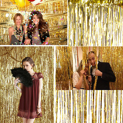 ang Türvorhang Metallisch Raumdeko Hochzeit Party Dekoration (Raum Raum Dekorationen)