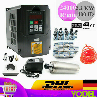 Brand New Er20 2.2kw Water Cooled Spindle Motor2.2kw Drive Inverter Vfd For Cnc