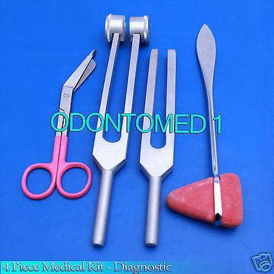 4 Piece Medical Kit - Diagnostic Emt Nursing Surgical Ems Student Paramedic