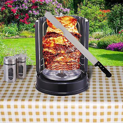 Dönergrill Schaschlikgrill 1.400W Rotissiere Hähnchengrill Gyros Kebab Drehspieß