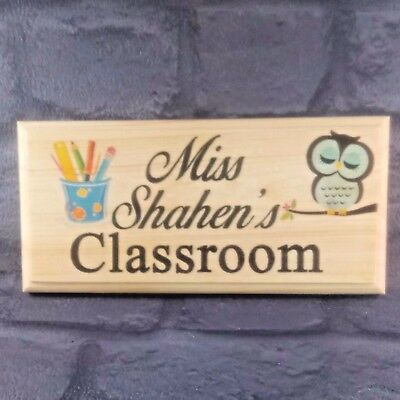 Personalised Classroom Door Sign Teacher End Of Term Gift Class Plaque Desk