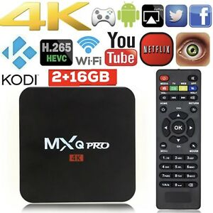 NEW! MXQ PRO 2/16G. ANDROID TV BOX WIFI BT KODI APPS LOADED 4K Hallam Casey Area Preview