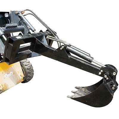 Skid Steer Backhoe W 14 Bucket Excavator Attachment Bobcat Front Loader Titan