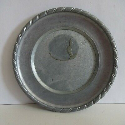 Plate Pewter Decorative Plate Approx. 11 CM Neutral