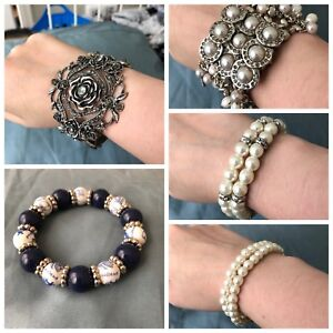 Assorted bracelets - costume jewellery