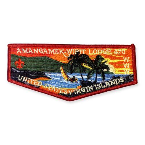 U.S. Virgin Islands, Sunset Beach- Amangamek Wipit, Lodge 470, OA Flap