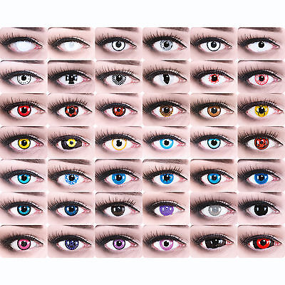 Farbige Kontaktlinsen  Kostüm Fasching  Zombie Dämonen - Halloween Zombie Kostüme