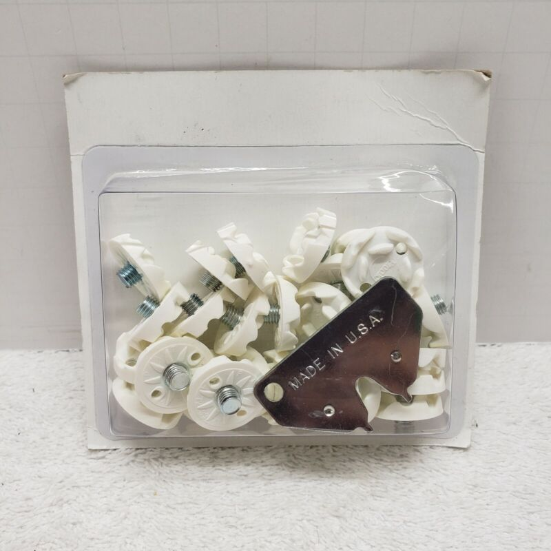 26 Pcs Golf Shoe Spikes White Replacement Metal Thread Screw-in With Tool - NEW