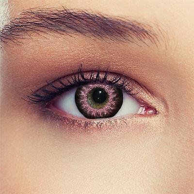 2 Rosa Kontaktlinsen Funlinsen mit Stärke
