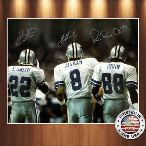 Aikman Smith  Irvin Autographed Signed 8x10 Photo Premium Reprint