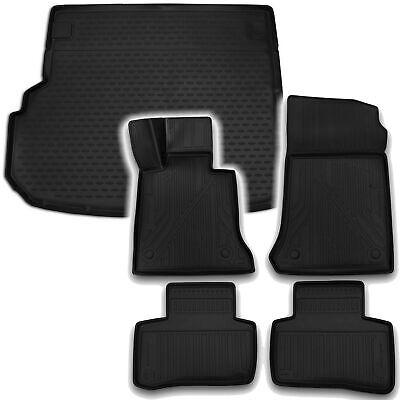 Gummi Kofferraumwanne Fußmatten Set für Mercedes GLK X204 ab 2014-