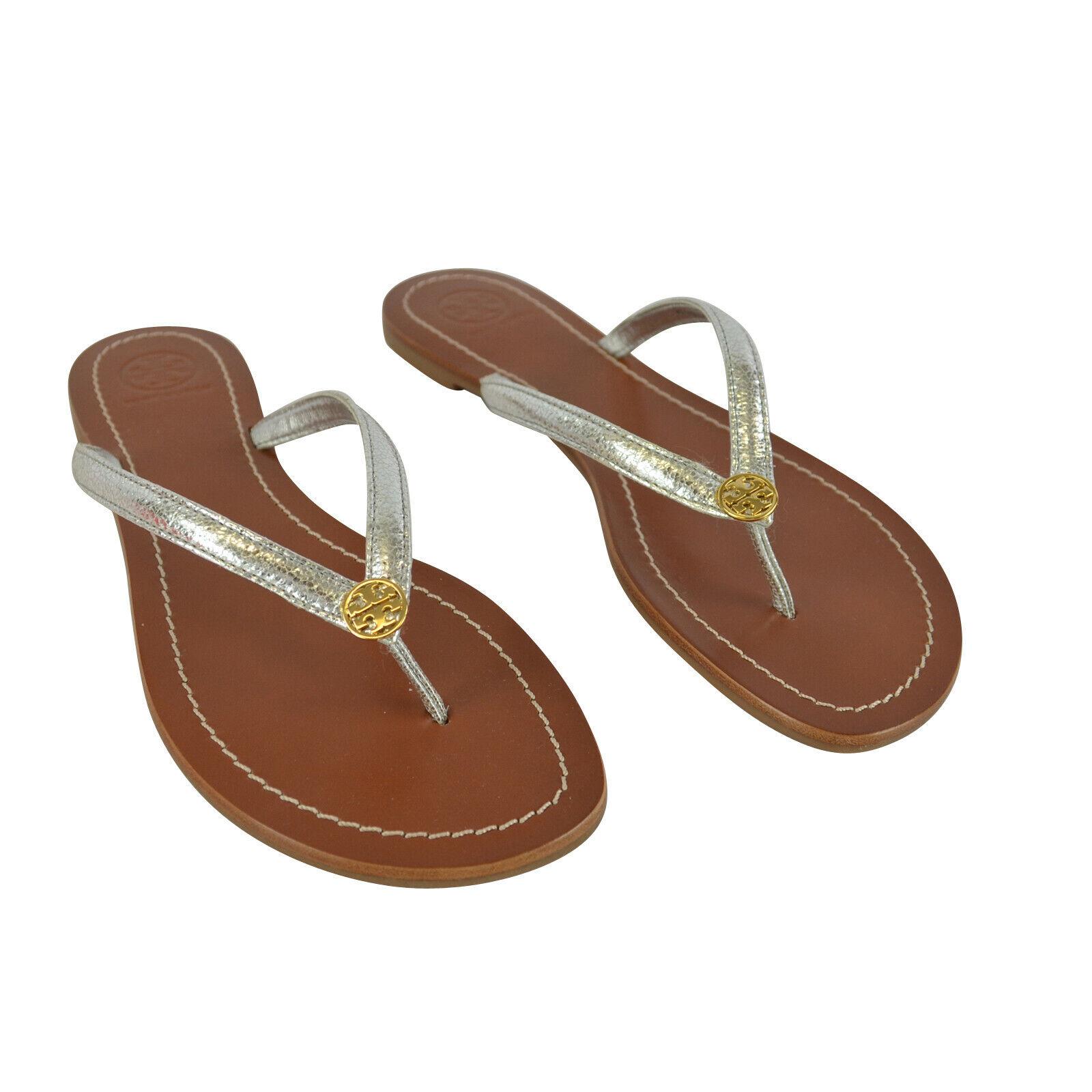 Tory Burch Terra Thong Sandals Silver
