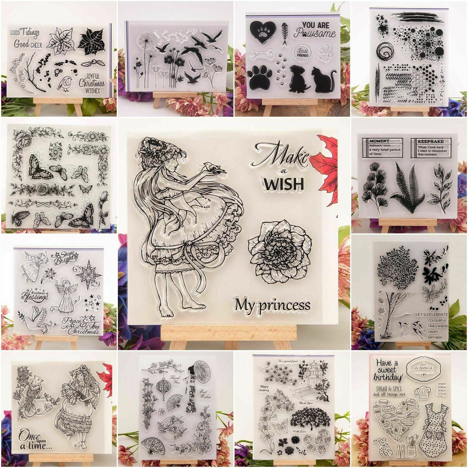 Animals Letters Sillicone Rubber Stamp Seal Scrapbook Album Embossing Handcrafts