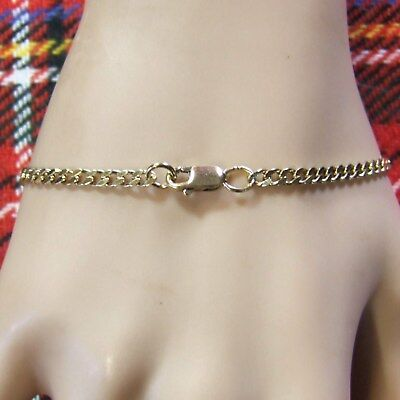9ct GOLD  second hand solid curb ankle bracelet