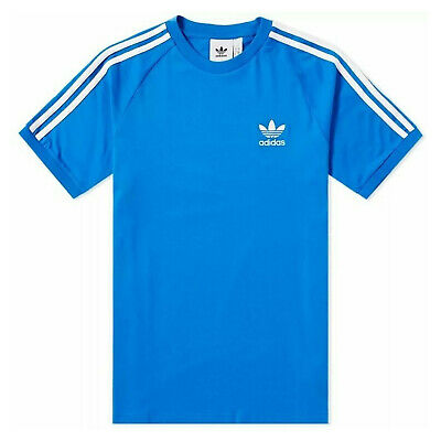 adidas Originals 3 Stripes Logo Tee Herren Trefoil Shirt Bluebird Blau Weiß Originals 3 Stripes Trefoil